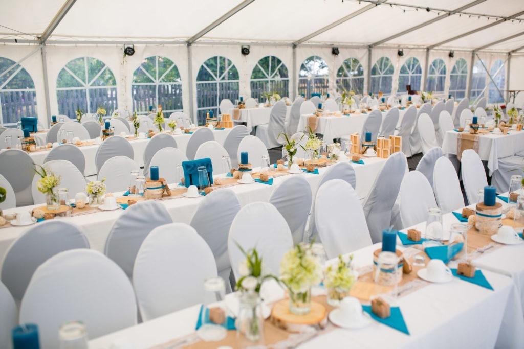 Dekorierter Hochzeitssaal - Hochzeitsfoto-Fürstenfeldbruck