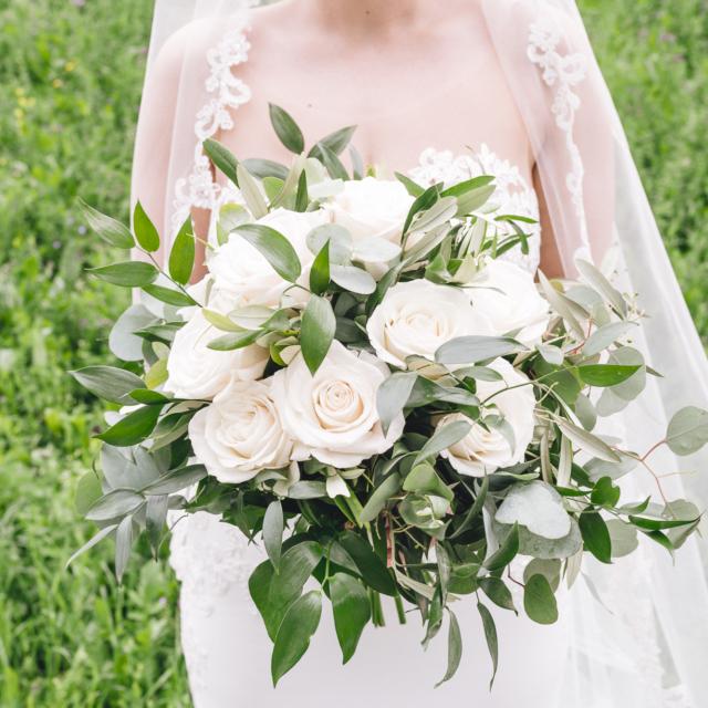 Foto zeigt Brautstrauß im Detail