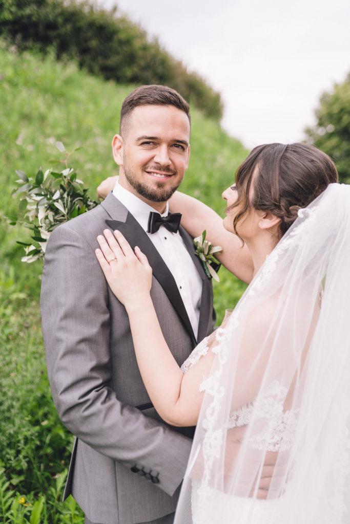 Hochzeitsfoto vom Bräutigam