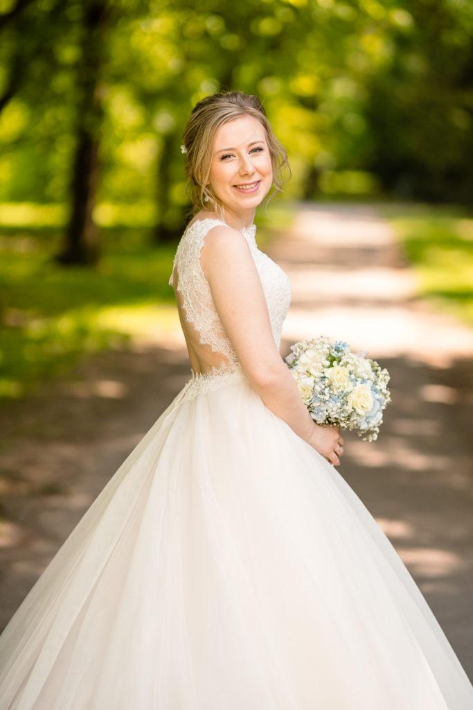 Detailaufnahme der lachenden Braut